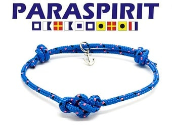 Paraspirit Adjustable Celtic Eternity Nautical Rope Bracelet with Anchor Charm