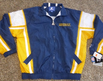 Vtg NWT Michigan Wolverines Starter NCAA Spring Jacket Sz Men's XL