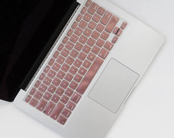 Rose Gold  Silicone Keyboard Cover for Macbook Pro and Macbook Air