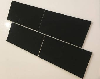 """Black Gloss Acrylic Rectangle Crafting Mosaic & Wall Tiles, Sizes: 1cm to 25cm -  1"""" to 10"""""""
