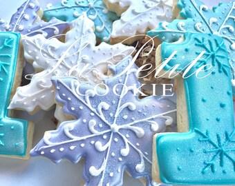 Winter wonderland /ONEderland/Frozen birthday Decorated Sugar Cookies (1 Dozen)