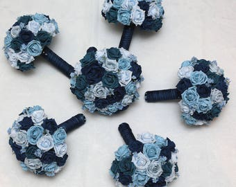 Wedding artificial foam flower package  the forget -me -not collection
