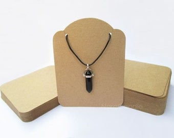 Necklace Card, Kraft Necklace Display, Bracelet Card, Jewelry Display, Earring Card