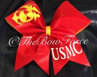 Marine inspired Cheer Bow