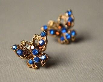 Butterfly brown earrings