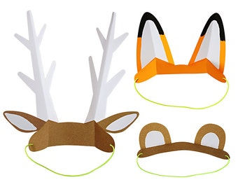 SALE! Let's Explore Animal Ears Party Favors / Masks