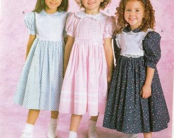 McCall's Ruffles and Lace BIBBED DRESS Pattern 4356 Child Sizes 3 4 5 6