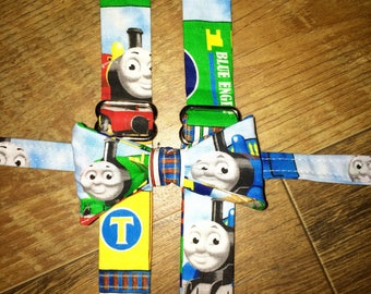 Bow tie and Suspender Set Thomas the Train/ boys/Toddler tie - perfect for birthdays and pictures/child outfit/necktie/boy/toddler