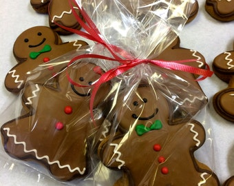 REAL Gingerbread Men & Women Cookies, Gingerbread Cookie Gift Basket, Holiday Gift, Great Christmas Gift, Non-Religious Holiday Gift