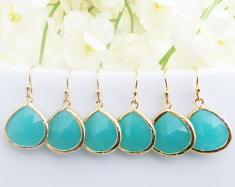 Turquoise Earrings for Women, Turquoise Earrings, Set of 2, 4, 6, 8 Earrings, Bridesmaid Earrings, Bridesmaid Gift, Bridesmaid Jewelry
