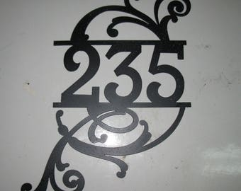 "Laser cut 6"" tall  METAL HOUSE NUMBER"