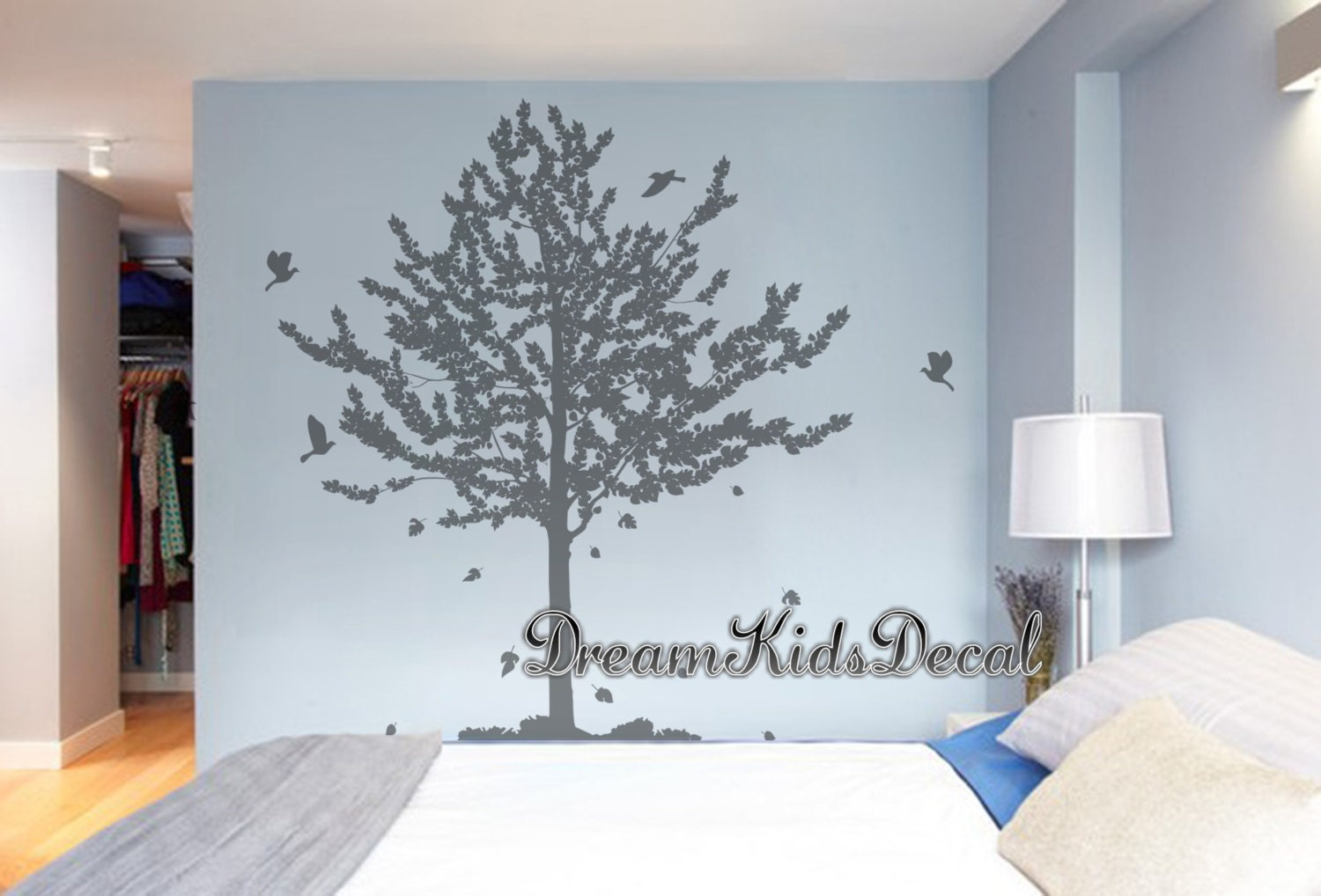 Tree wall decal living room wall decals pine tree decal wall tree wall decal living room wall decals pine tree decal wall stickers wall amipublicfo Images
