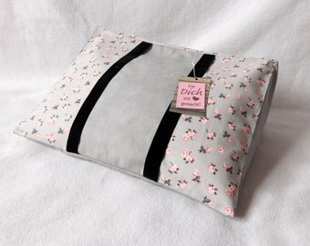 Reading pillow rose grey with light grey uni