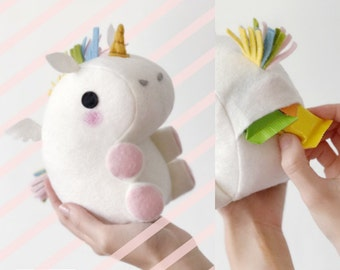 Little farting unicorn, plush, gift bag