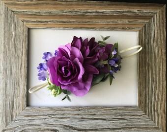 Purple halo, purple headband, floral headband, wdw halo, Dollcake halo, purple floral crown, purple crown, Crown