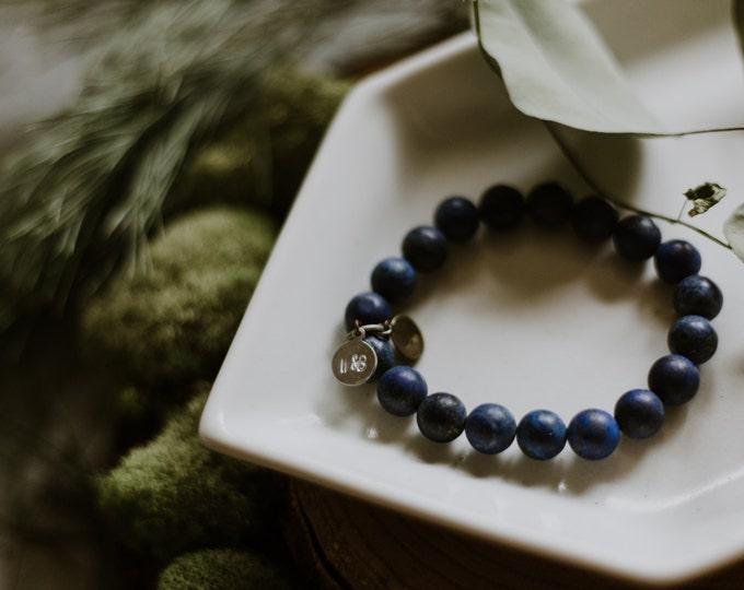 Basic Lapis Stacking Bracelet / Lapis Stone Bracelet / Minimal Beaded Bracelet / Stackable Bracelet / Layering Bracelet /