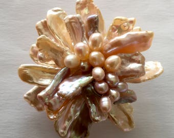 Multicolor Freshwater Pearl Pin