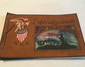 Vintage Fort Riley Kansas Service Photo Album