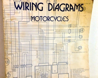 motorcycle diagram etsy. Black Bedroom Furniture Sets. Home Design Ideas