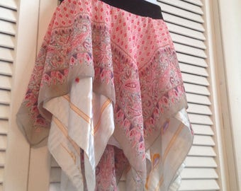 Pink Grey Paisley Fairy Skirt