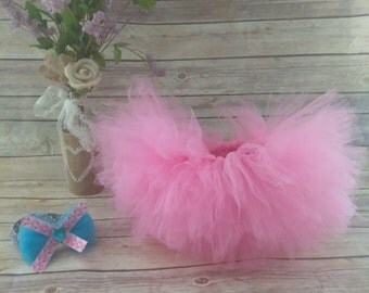 Pink newborn tutu and headband set