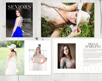 SALE Modern Geometric Senior Welcome Magazine Template