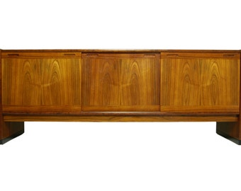 DANISH ROSEWOOD Mid Century Modern Credenza, Media Console by DYRLAND,  s910