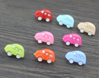 Wholesale  lot 200pcs  multi colors car  resin plastic Button DIY Sewing craft,   13*18mm