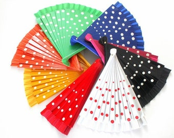 Hand Fans, wedding fan, Abanico, Rockabilly-fan in several colors