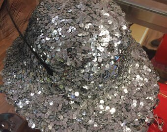 Vintage sequined fedora