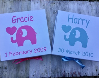 New baby personalised keepsake box/gift box/baby shower/christening