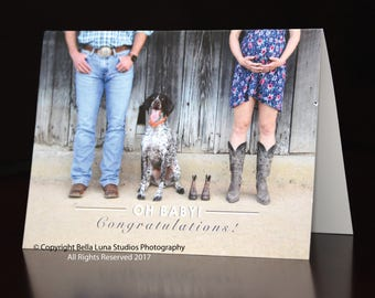 Oh Baby- Congratulations- Greeting Card to congratulate a new parent