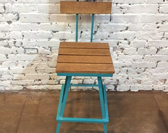 Industrial Bar Stool,  Bistro, Restaurant - Industrial Style Commercial Urban Living Bar Stools - The Nantucket Swivel Barstool