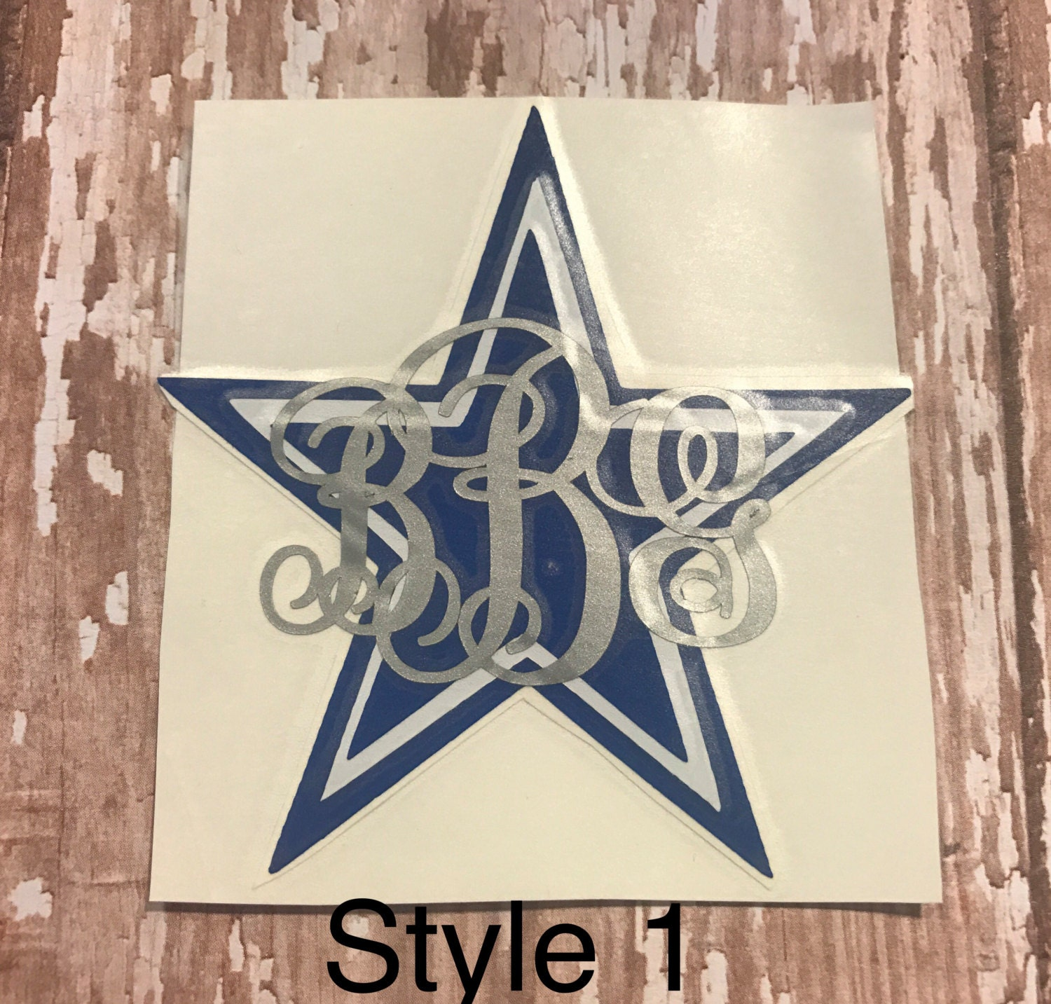 Custom Dallas Cowboys Monogram Car Window Yeti Ozark Vinyl - Cowboy custom vinyl decals for trucks