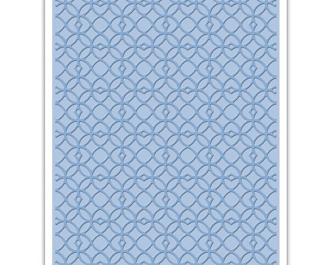 New! Sizzix Tim Holtz Texture Fades Embossing Folder - Latticework
