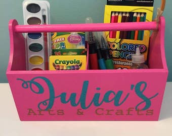 Kid's Personalized Caddy Tote Basket Organizer