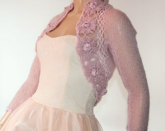 Wedding Bridal Bolero Shrug Lace Crochet Shrug Boleros Mohair