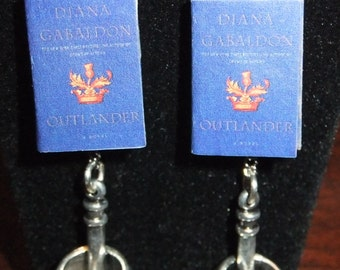 Outlander Book Earrings - Great Gift for Book Lovers!
