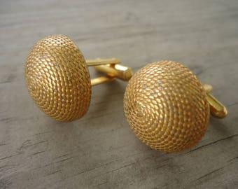 Men's Goldtone  Dome Cufflinks