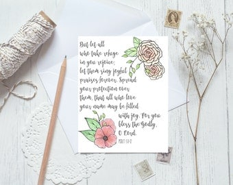 Scripture Note Card SET, SET of 8 Christian Greeting Cards, Encouragement Note Cards, Bible Verse Note Cards, Christian Note Cards