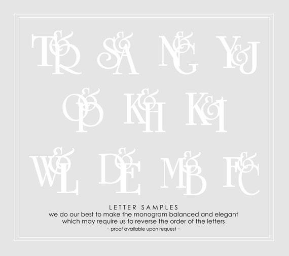 Wedding Embosser Monogram Stamp Custom Personalized