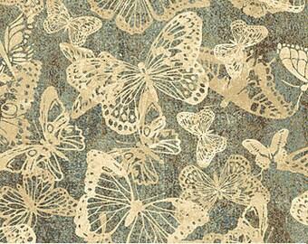 Half Yard Stonehenge Meadow Spring Butterflies Fabric Quilting Cotton Northcott