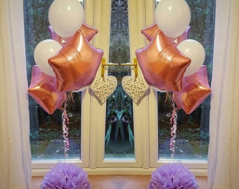 Large 19inch balloon weights,table centrepieces and decorations tissue paper pompoms . Wedding party babyshower  .balloons not included