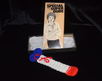 Vintage Spencer's Gag, novelty gift Something Special for a Super Dude penis warmer in box