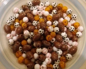 Sports Ball Beads. Plastic