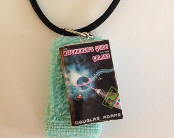 Hitchhiker's Guide to the Galaxy Book & Towel Necklace