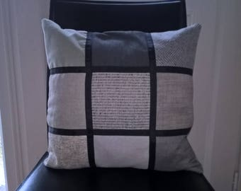 Patchwork cushion, fully lined with inner