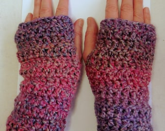 Pink Fingerless Gloves Pink Crocheted Fingerless Gloves Mauve Fingerless Gloves Mauve Crocheted Fingerless Gloves Pink Crocheted Gloves