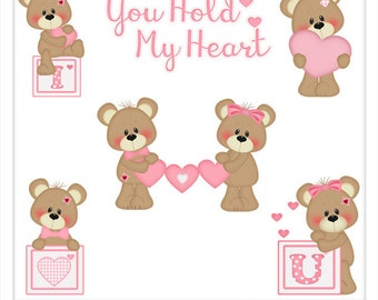 DIGITAL SCRAPBOOKING CLIPART - You Hold My Heart