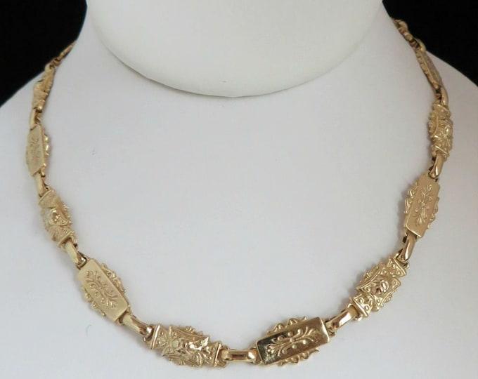 Vintage Karu Arke Gold Tone Necklace